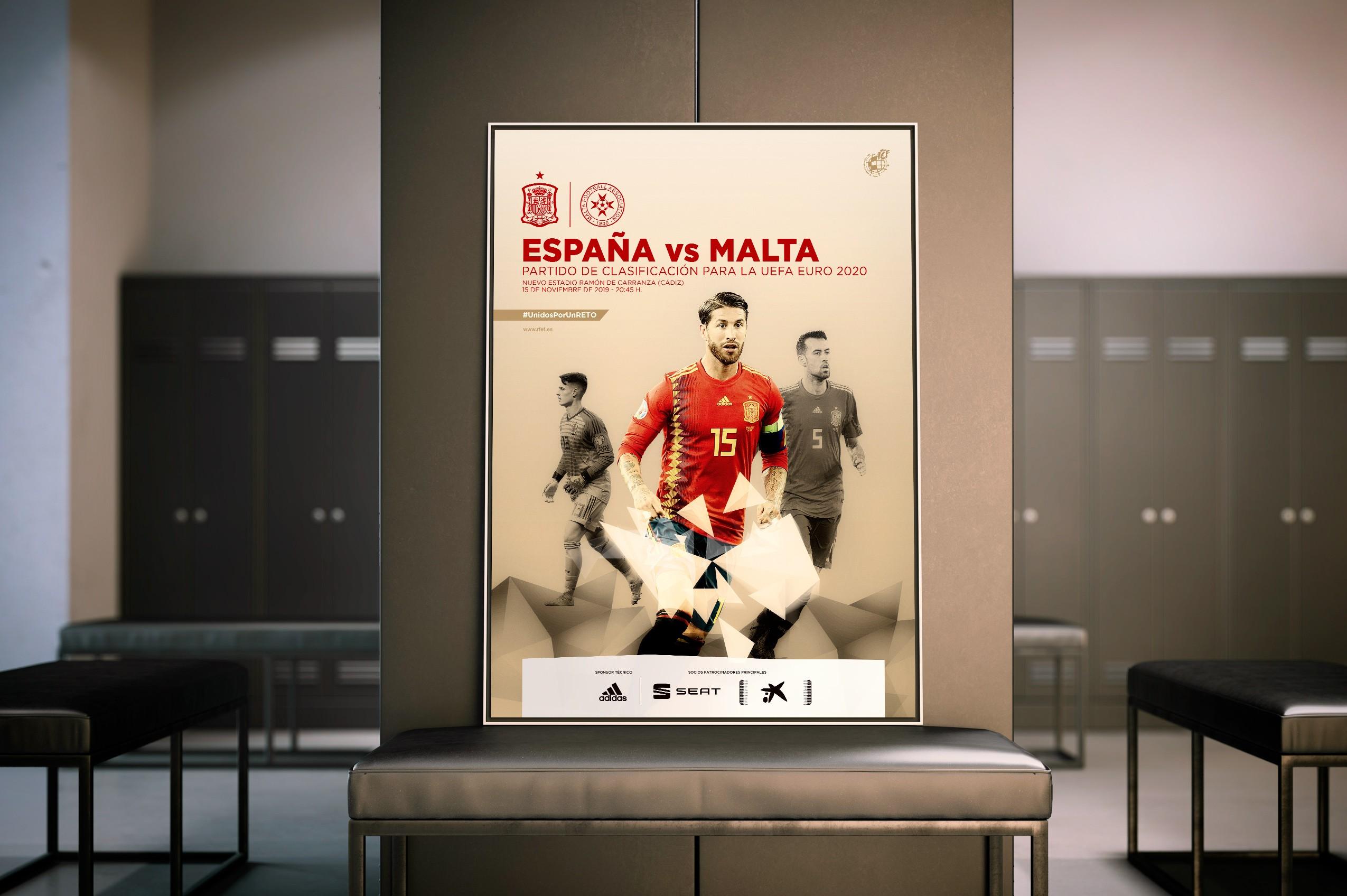 Selección absoluta masculina RFEF - Cartel España-Malta
