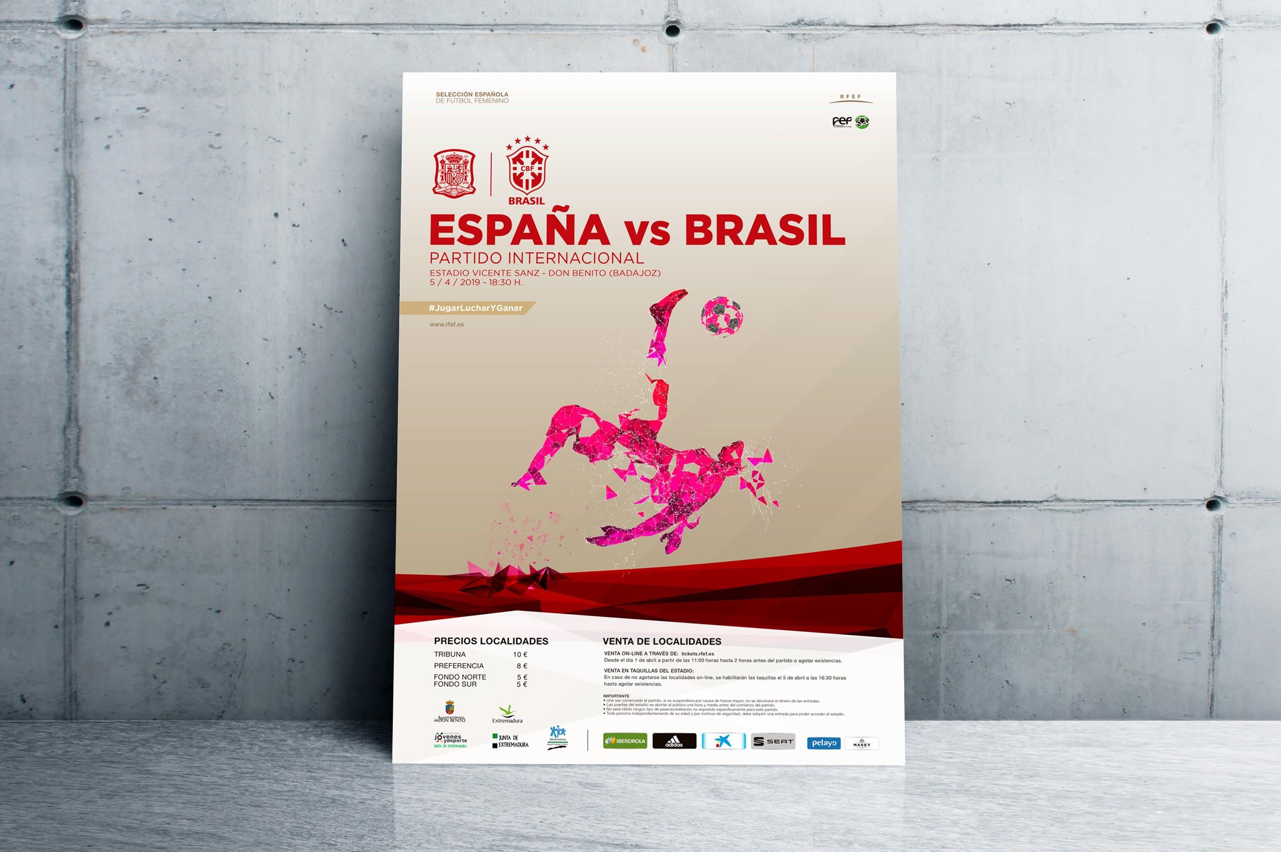 Selección absoluta femenina RFEF - Cartel España - Brasil