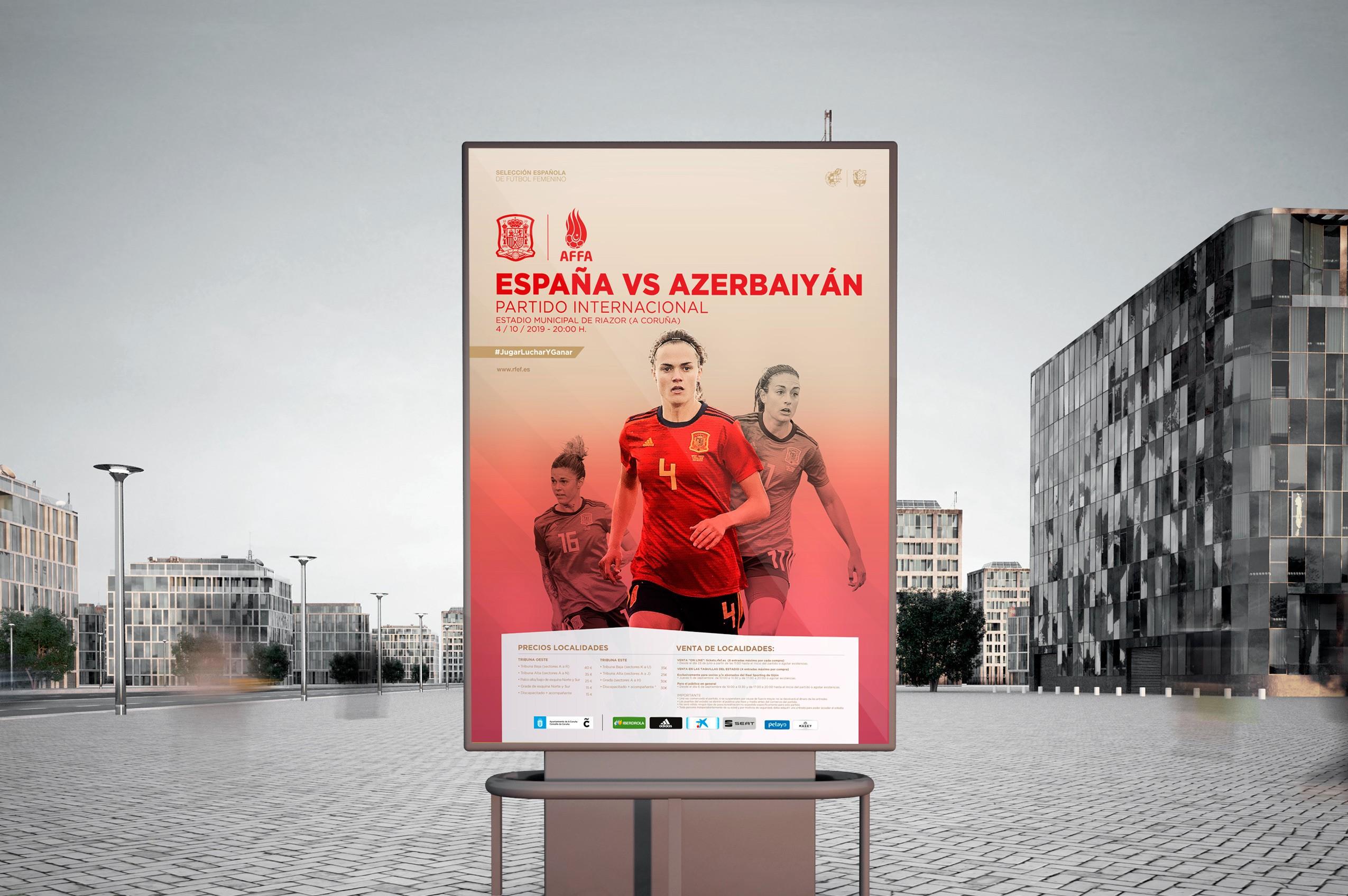 Selección absoluta femenina RFEF - Cartel España - Azerbayán