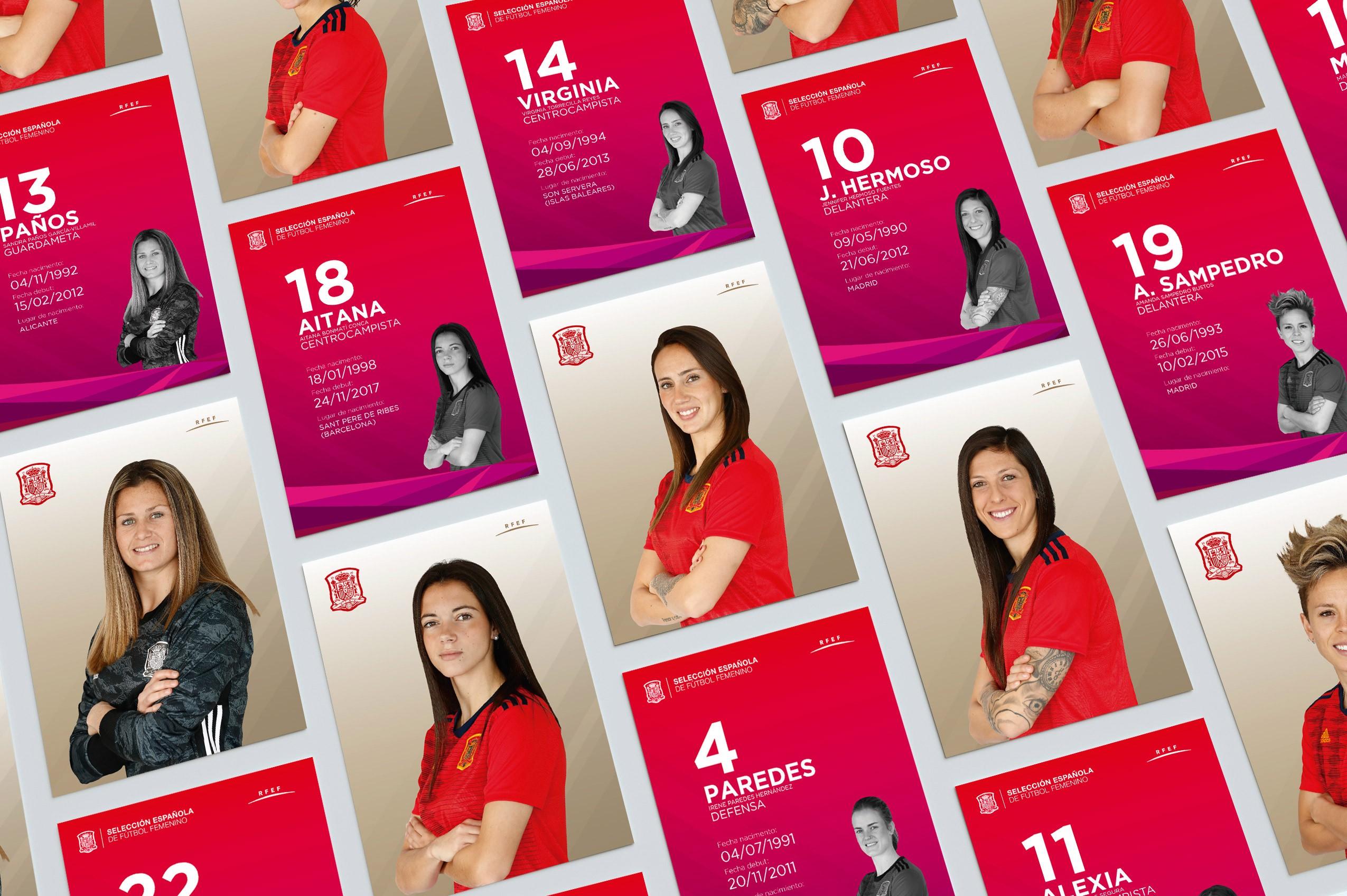 Selección absoluta femenina RFEF - Postales