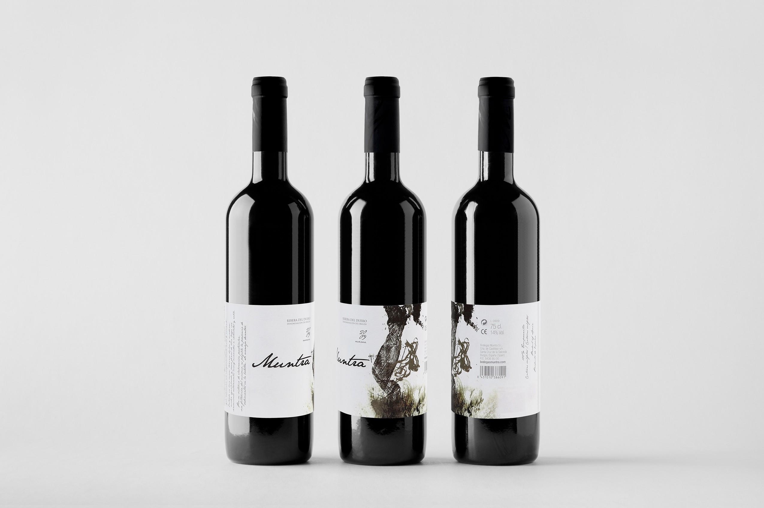 Bodegas Muntra - Diseño etiqueta botellas
