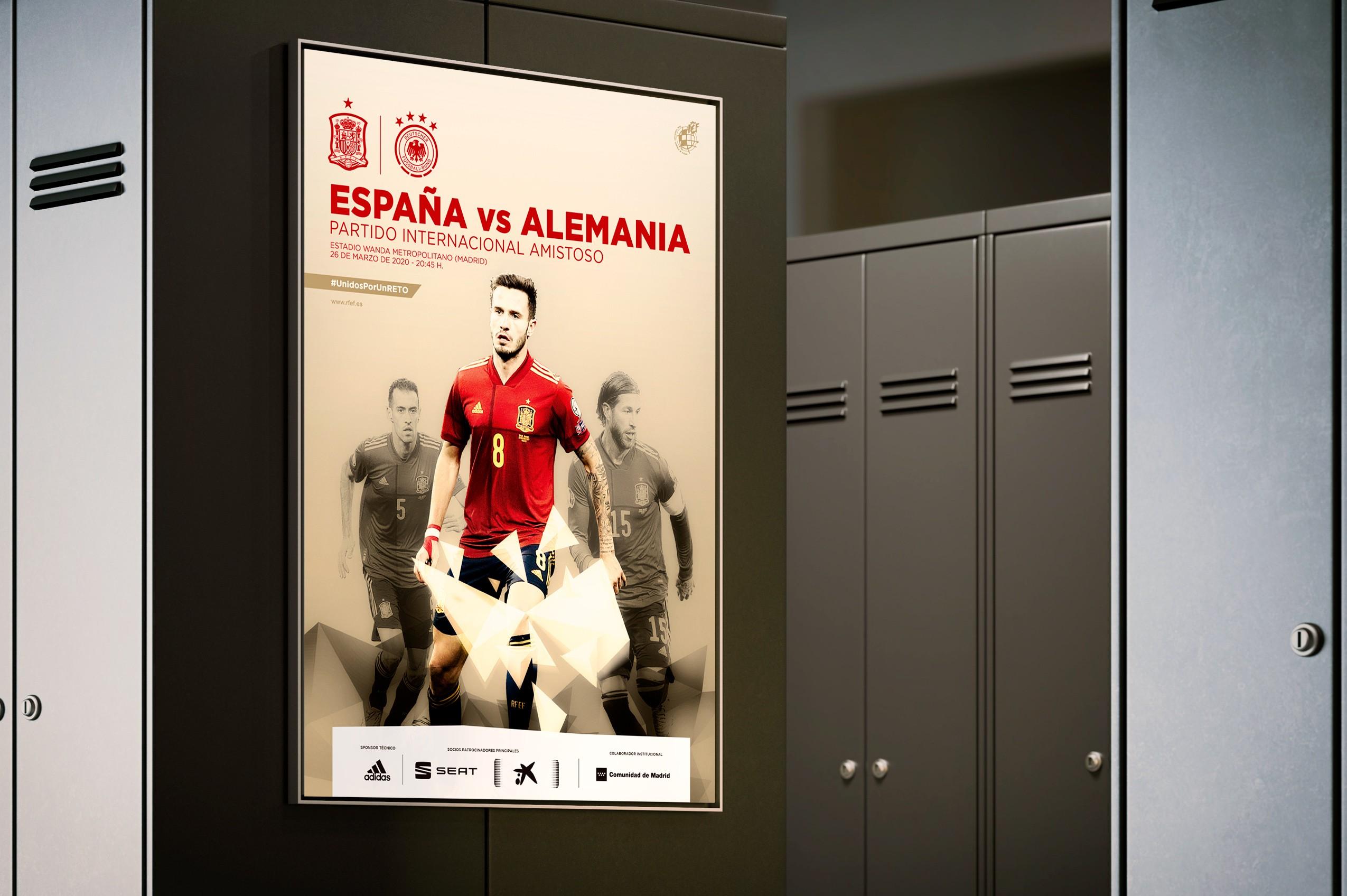 Selección absoluta masculina RFEF - Cartel España-Alemania